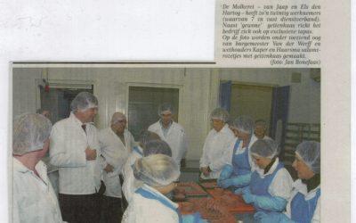 College bezoekt geitenkaasmakerij De Molkerei