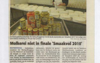 Molkerei niet in finale 'Smaakvol 2010'